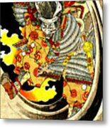 Ghost Of Warrior Tomomori 1880 Metal Print by Padre Art