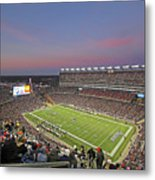 Gillette Stadium In Foxboro  Metal Print by Juergen Roth