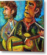 Girl From North Country Johnny Cash And Bob Dylab Metal Print by Jason Gluskin