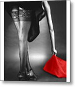 Glorious Gams - Seeing Red Metal Print by Jerry Taliaferro