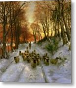 Glowed With Tints Of Evening Hours Metal Print by Joseph Farquharson
