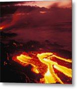 Glowing Lava Flow Metal Print by Peter French - Printscapes