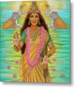Goddess Lakshmi Metal Print by Sue Halstenberg