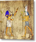 Gods Of Ancient Egypt Metal Print by Michal Boubin