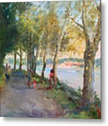 Going For A Stroll Metal Print by Ylli Haruni