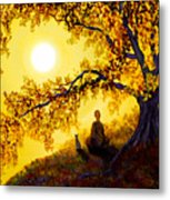 Golden Afternoon Meditation Metal Print by Laura Iverson