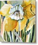 Golden Daffodil Metal Print by Mindy Newman