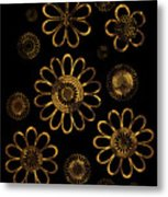 Golden Flowers Metal Print by Frank Tschakert