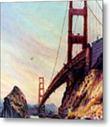 Golden Gate Bridge Looking South Metal Print by Donald Maier