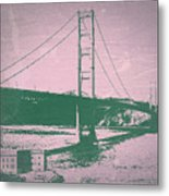 Golden Gate Bridge Metal Print by Naxart Studio