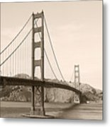 Golden Gate Bridge San Francisco - A Thirty-five Million Dollar Steel Harp Metal Print by Christine Till