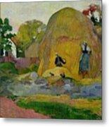 Golden Harvest Metal Print by Paul Gauguin