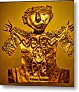 Golden Priest Statue Metal Print by Alexandra Jordankova