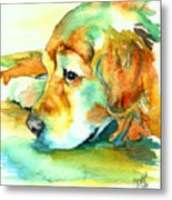 Golden Retriever Profile Metal Print by Christy  Freeman