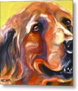 Golden Retriever The Shadow Of Your Smile Metal Print by Susan A Becker