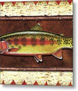 Golden Trout Lodge Metal Print by JQ Licensing