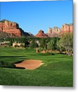 Golf In Paradise Metal Print by Gary Kaylor
