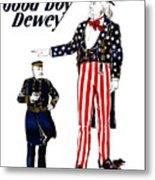 Good Boy Dewey Metal Print by War Is Hell Store