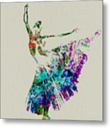Gorgeous Ballerina Metal Print by Naxart Studio
