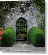 Gothic Entrance Gate, Walled Garden Metal Print by The Irish Image Collection