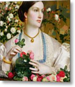 Grace Rose Metal Print by Anthony Frederick Augustus Sandys