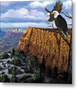 Grand Canyon Lookout Metal Print by Harold Shull