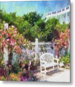 Grand Hotel Gardens Mackinac Island Michigan Metal Print by Betsy Foster Breen
