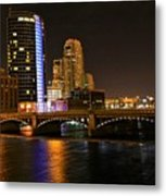 Grand Rapids Mi Under The Lights Metal Print by Robert Pearson