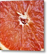 Grapefruit Half Metal Print by Ray Laskowitz - Printscapes
