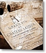 Great Wines Of Bordeaux - Chateau Latour 1955 Metal Print by Frank Tschakert
