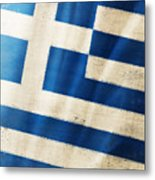 Greece Flag Metal Print by Setsiri Silapasuwanchai