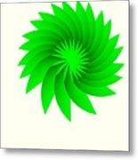 Green Flower Metal Print by Michael Skinner