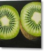 Green Kiwi Oil Painting  Metal Print by Natalja Picugina