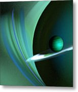 Green Planet Metal Print by Sandra Bauser Digital Art