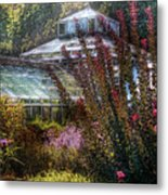 Greenhouse - The Greenhouse Metal Print by Mike Savad