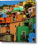 Guanajuato Hillside 1 Metal Print by Mexicolors Art Photography