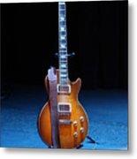 Guitar Blue Metal Print by Lauri Novak