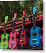 Guitars In Old Town San Diego Metal Print by Anna Lisa Yoder