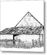 Haines Barn Metal Print by Virginia McLaren