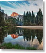 Half Dome And  Merced Metal Print by Mimi Ditchie Photography