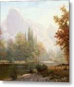 Half Dome Yosemite Metal Print by Albert Bierstadt