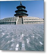 Hall Of Prayer For Good Harvest Metal Print by George Oze