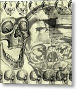 Halloween In Grunge Style Metal Print by Michal Boubin