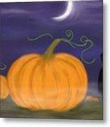Halloween Night Metal Print by Roxy Riou