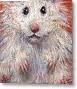 Hamster Painting  Metal Print by Svetlana Novikova