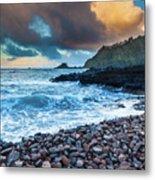 Hana Bay Pebble Beach Metal Print by Inge Johnsson