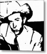 Hank Williams Metal Print by Jeff DOttavio