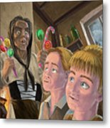 Hanzel And Gretel In Witches Kitchen Metal Print by Martin Davey