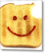 Happy Face And Bread Metal Print by Blink Images