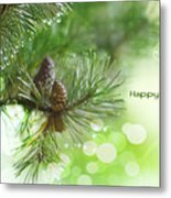 Happy Holidays Too Metal Print by Rebecca Cozart